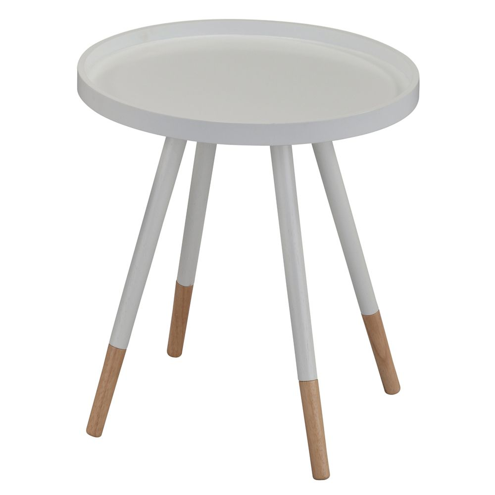 !nspire Hue-Accent Table-White