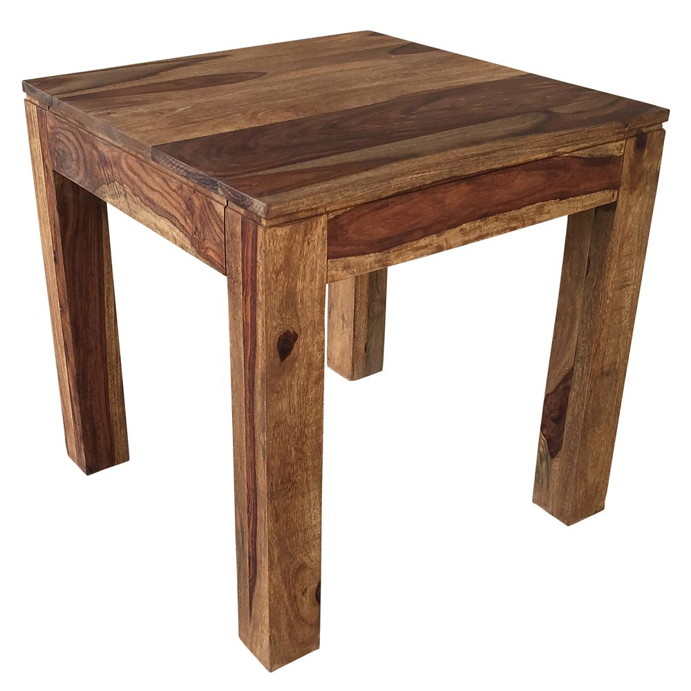Idris-Accent Table-Dark Sheesham