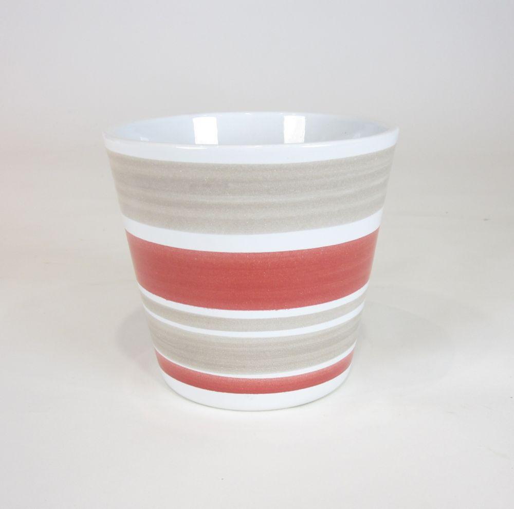 Ceramic Pot Striped 5 In
