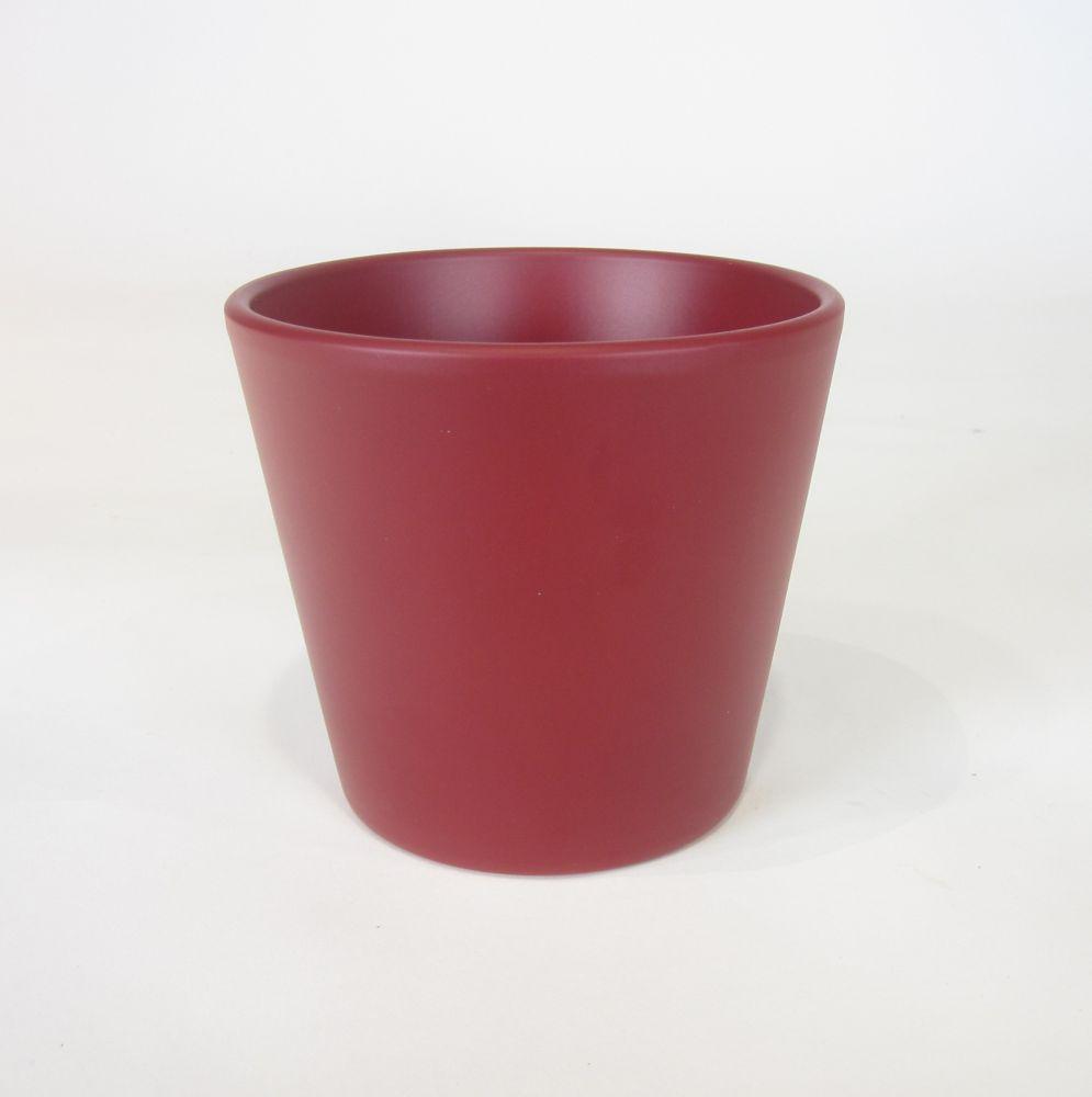 Ceramic Pot Red Matte 5 In