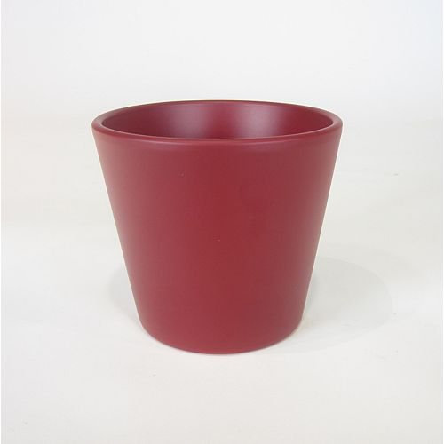 Foliera Red Matte 5-inch Ceramic Pot