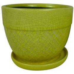 Trendspot 6-inch Acorn Bell Planter in Yellow