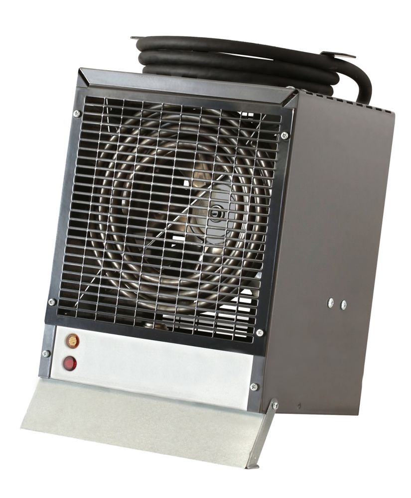 4800W, 240V Construction Heater with enclosed motor, yellow