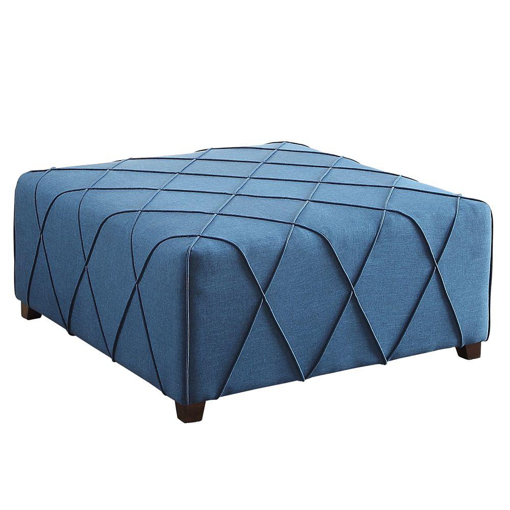 Alyssa-Cktl Ottoman With 4 Pillows-Blue