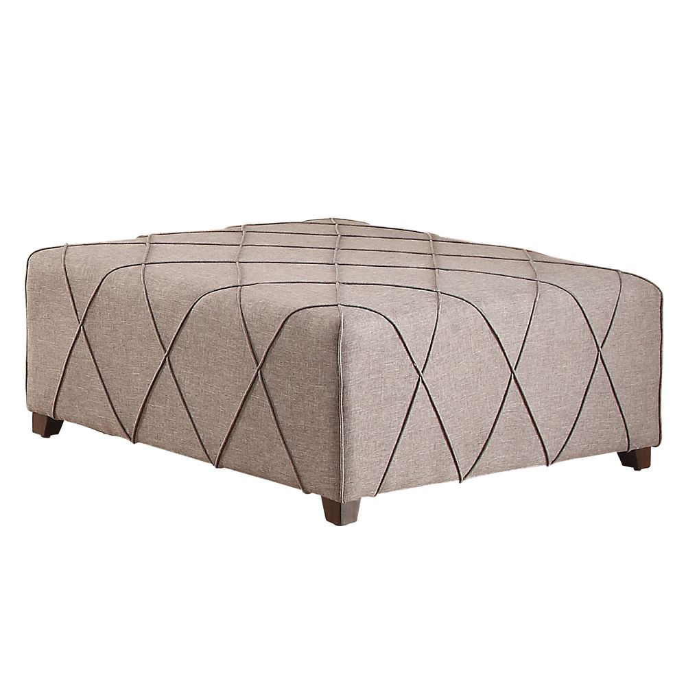 Alyssa-Cktl Ottoman With 4 Pillows-Grey