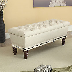 !nspire Hampton Double Storage Bench - Beige