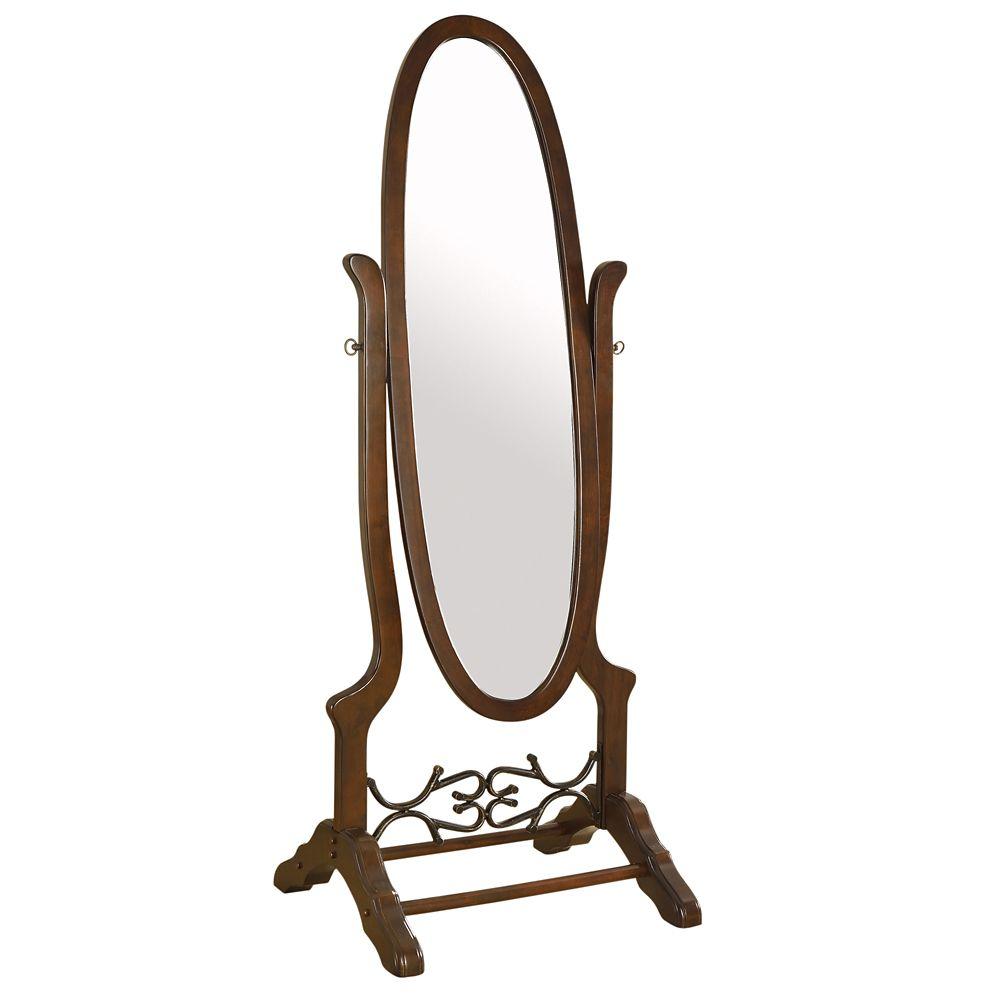 Adriana-Standing Mirror-Walnut