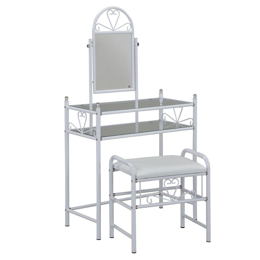 Josette-Vanity Set-White