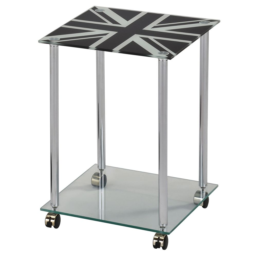 London-Accent Table-Chrome