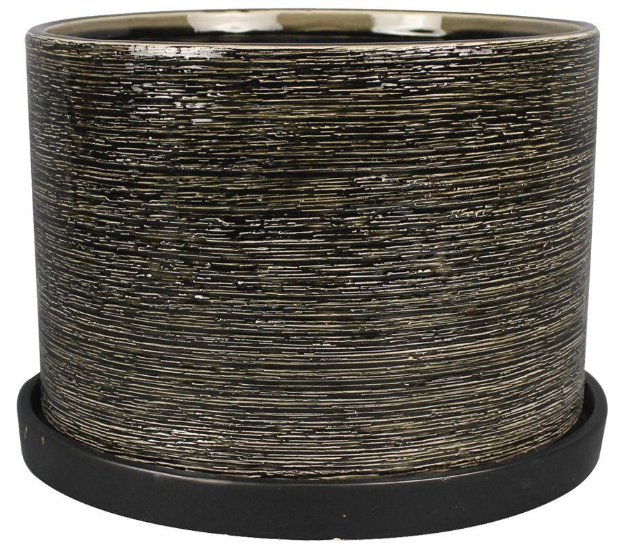 Pot cylindre, style, Ridgewater de 25.4 cm