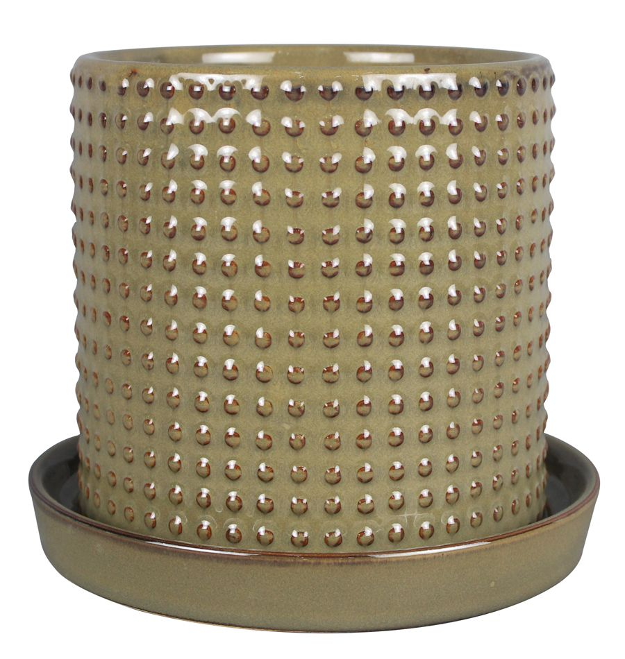 Pot cylindre texturé de 20.32 cm