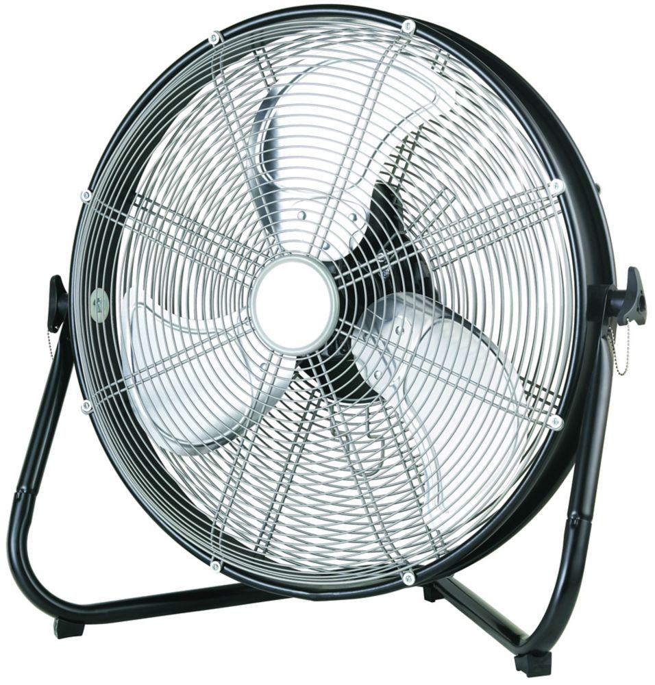 20 Inch High Velocity Floor Fan With Shroud