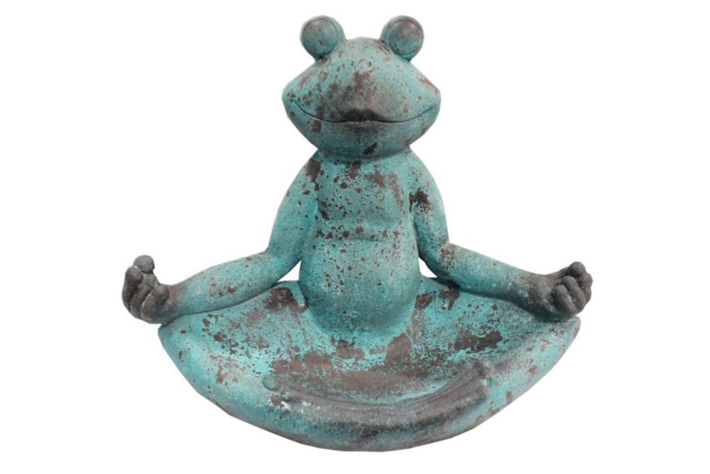 Statue grenouille Yogi 38 cm