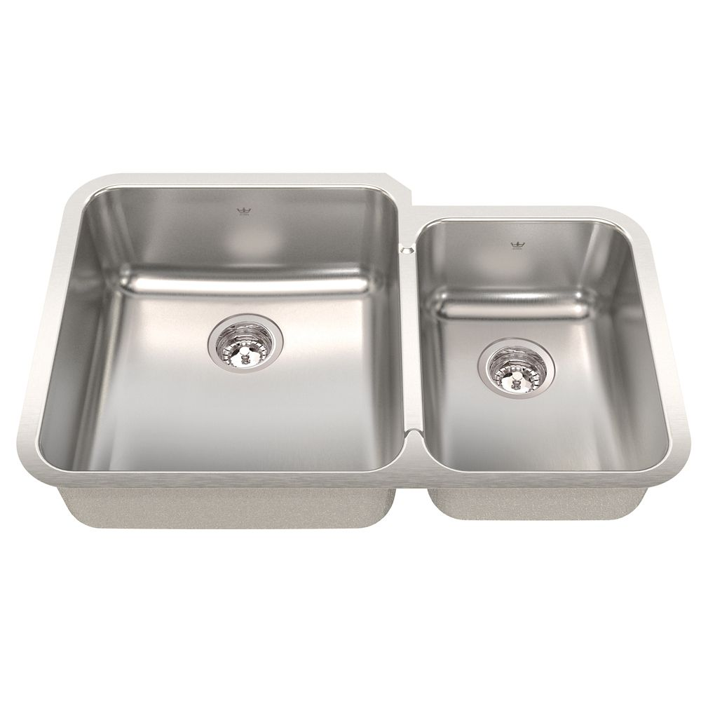 "Kindred Combination RH UM 20 Ga sink - 21-1/2"" X 32-7/8"" X 8"""