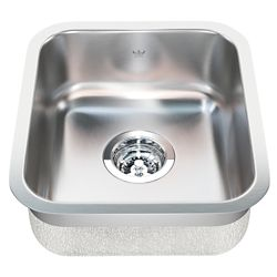 "Kindred Single UM 20 Ga sink - 15-3/4"" X 13-3/4"" X 8"""