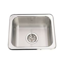 "Kindred Single sink 20 Ga - 13-1/8"" X 15-1/8"" X 6"""