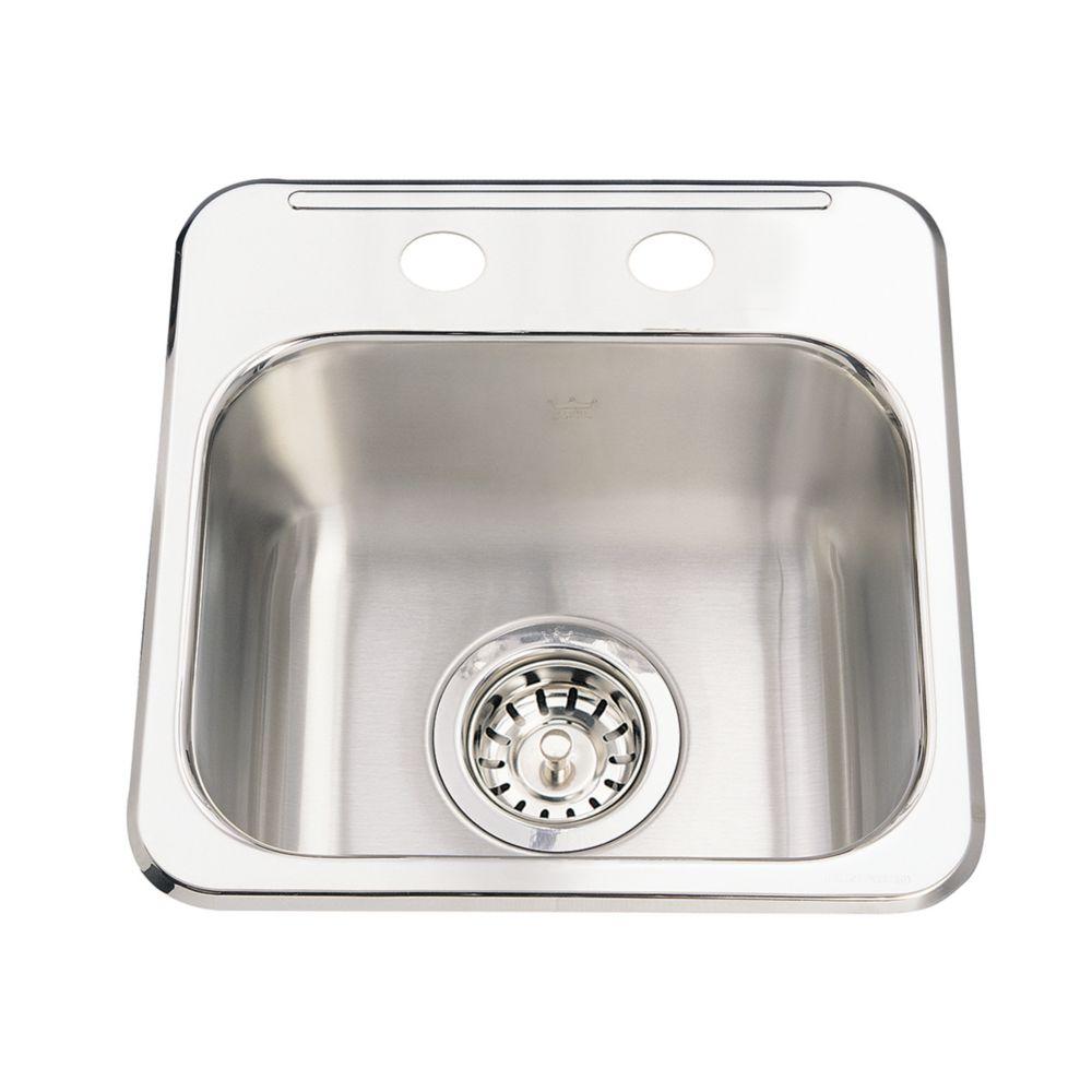 Single Sink 20 Ga 2 Hole Drilling