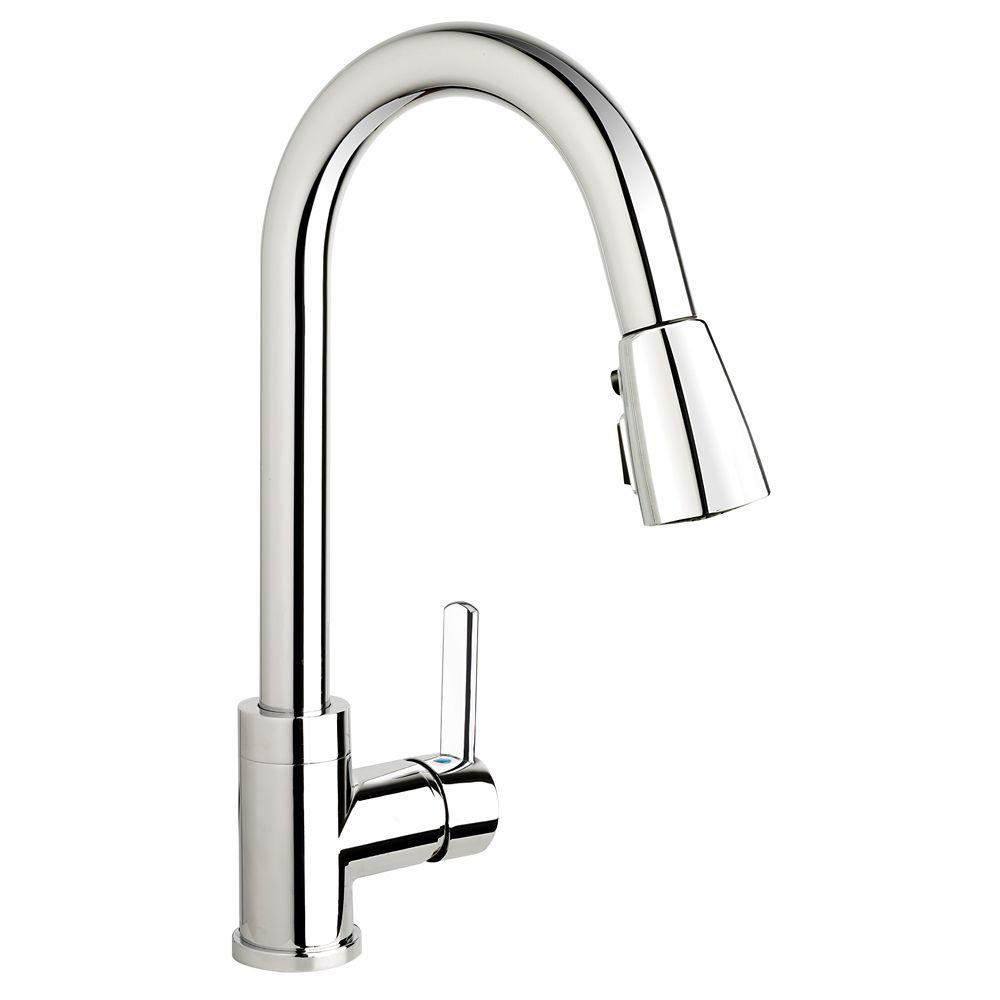 Gooseneck pull down faucet Chr