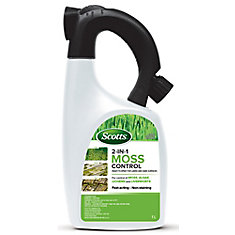 Destructeur de mousse 2 en 1 pour la pelouse et les surfaces dures Scotts ®  1 L – Prêt à pulvériser