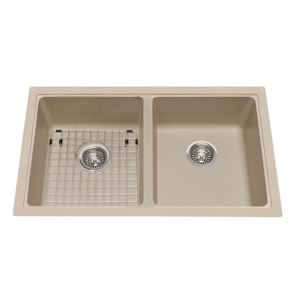 kindred stainless steel double kitchen sink with faucet and bottom grids the home depot canada. Black Bedroom Furniture Sets. Home Design Ideas