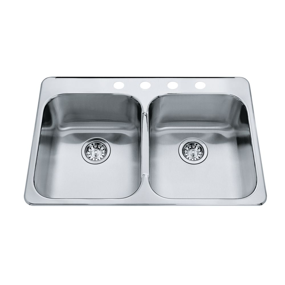 Kindred Double 20 Ga sink 4 hole drilling
