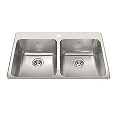Double  20 Ga sink 1 hole drilling