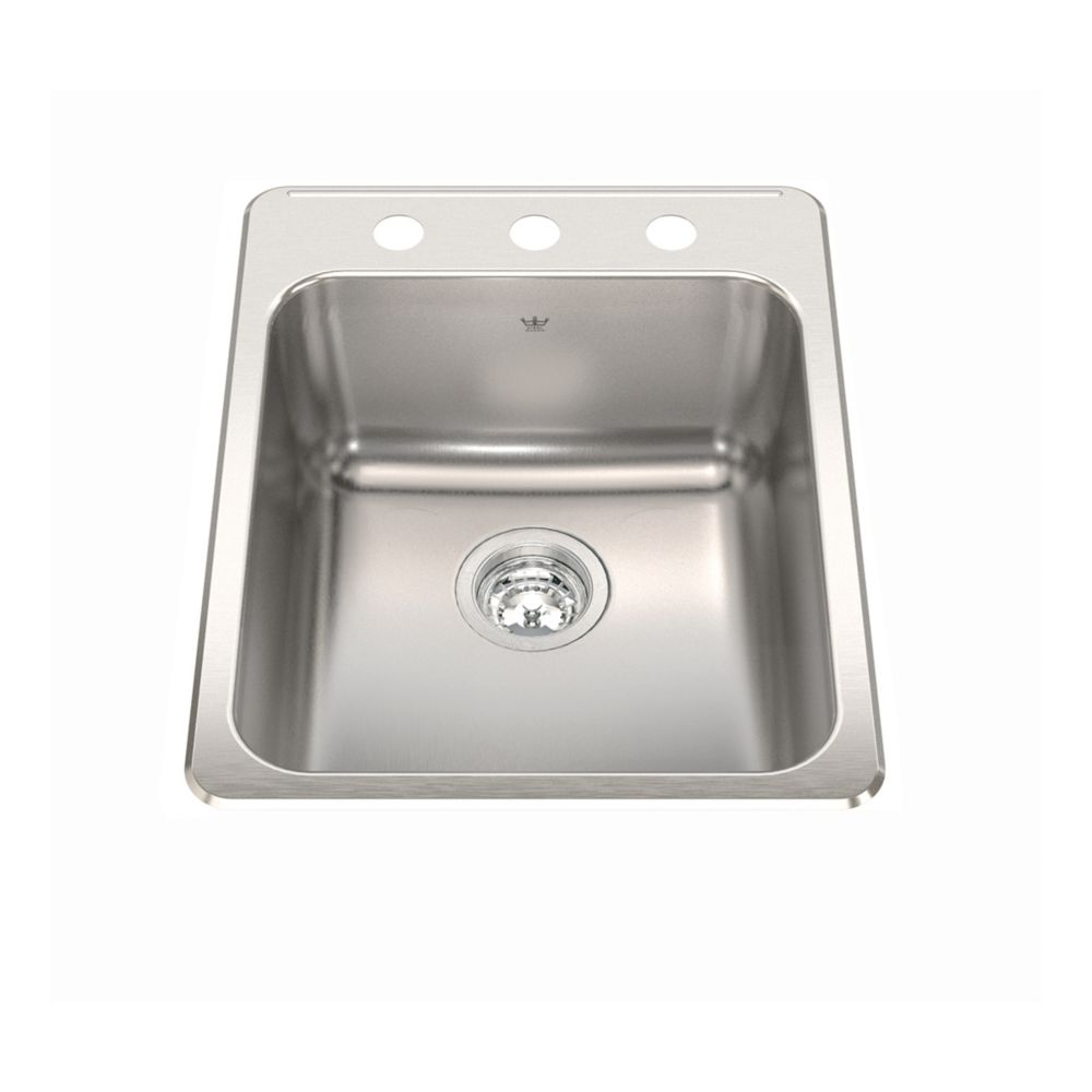 Kindred Single sink 20 Ga 3 hole drilling