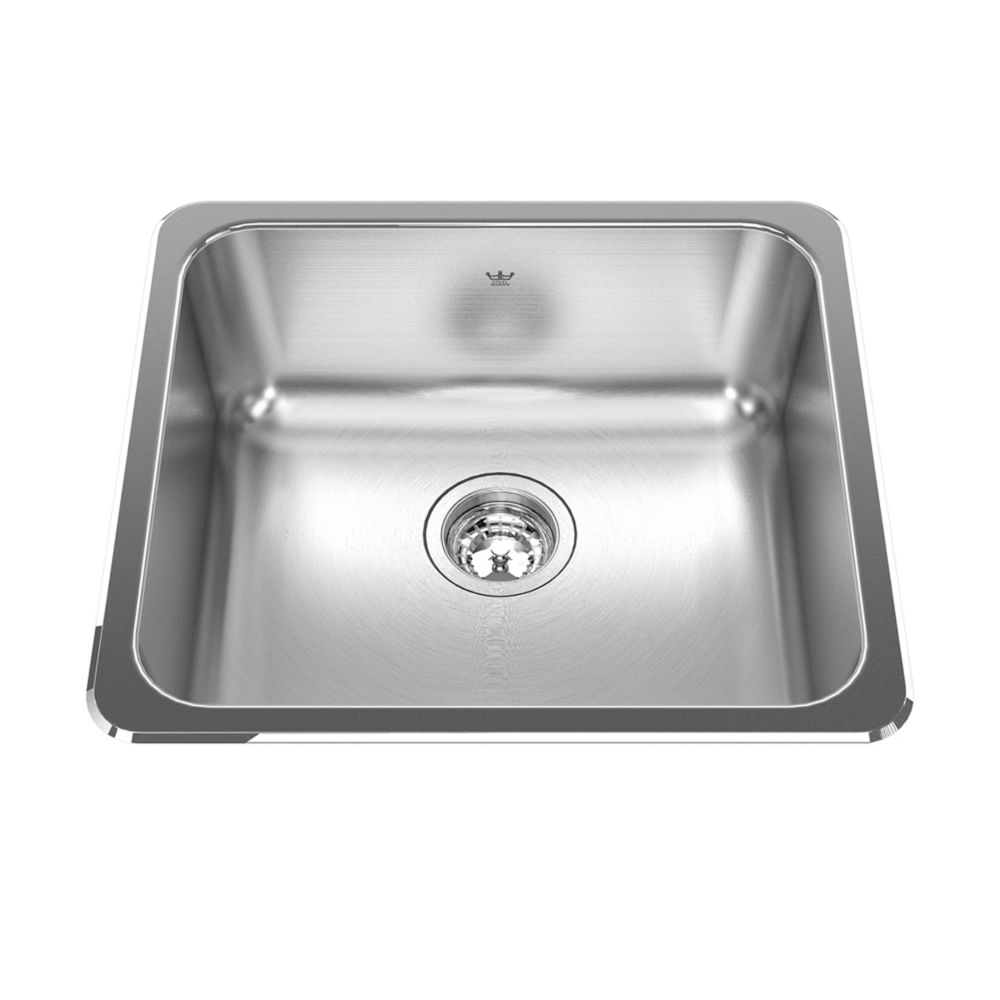 "Kindred Single sink 20 Ga - 18-1/8"" X 20-1/8 X 8"""