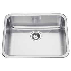 "Kindred Single sink 20 Ga - 19-1/8"" X 25-1/8 X 8"""