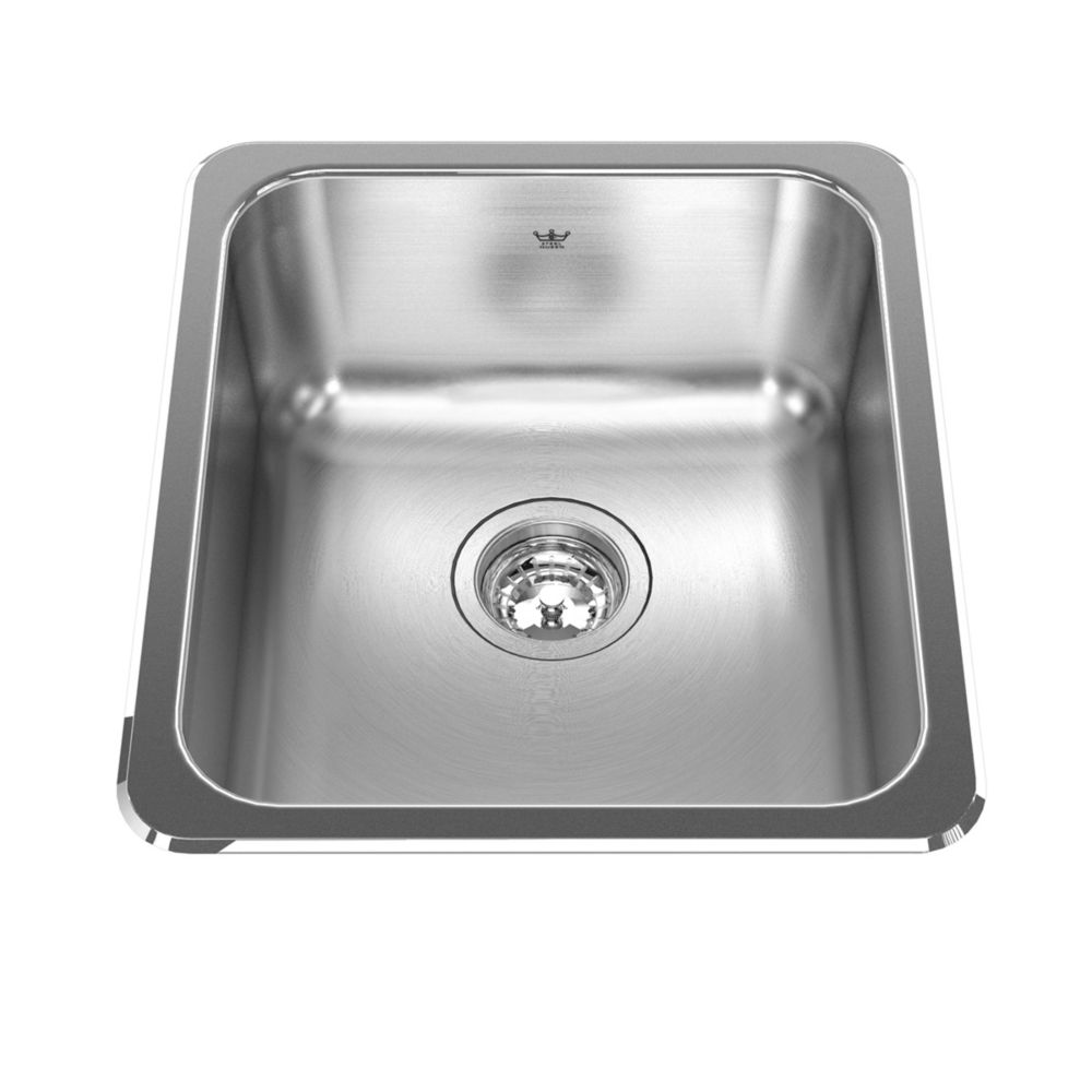 "Kindred Single sink 20 Ga - 18-1/8"" X 16-1/8"" X 8"""