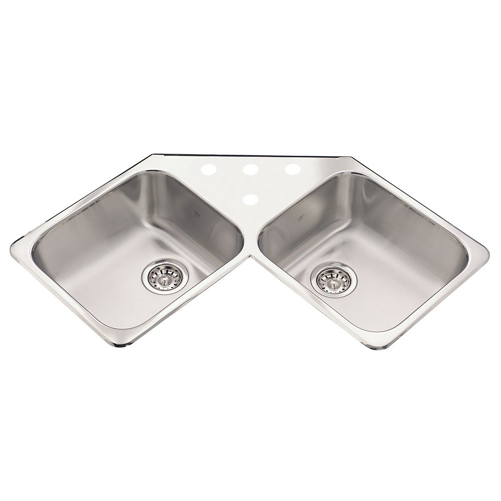 Corner Sink 4 hole drilling