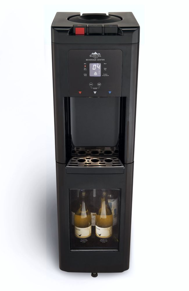 Viva Black Top Load Water Cooler , Digital Display And True Refrigerated Bottom Wine Cooler.