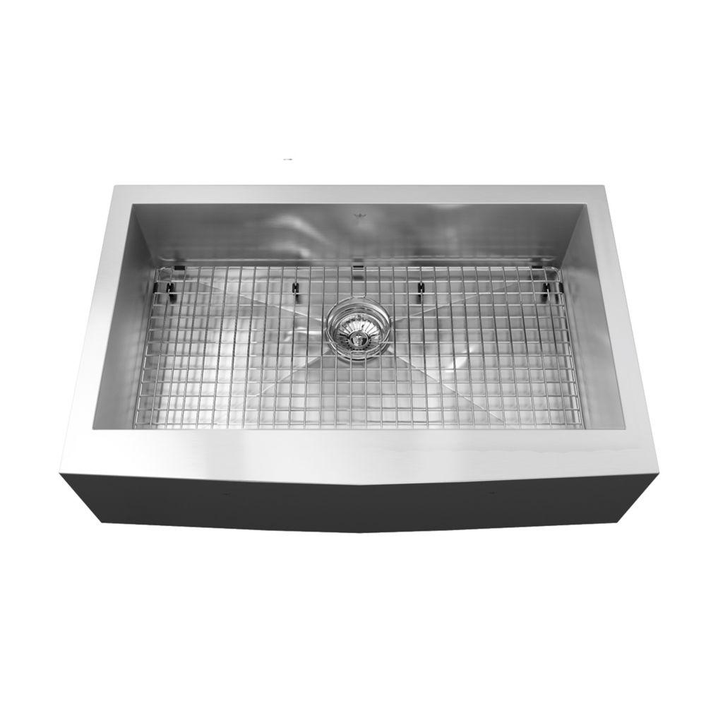 Kindred 20 Ga HandFab apron single sink