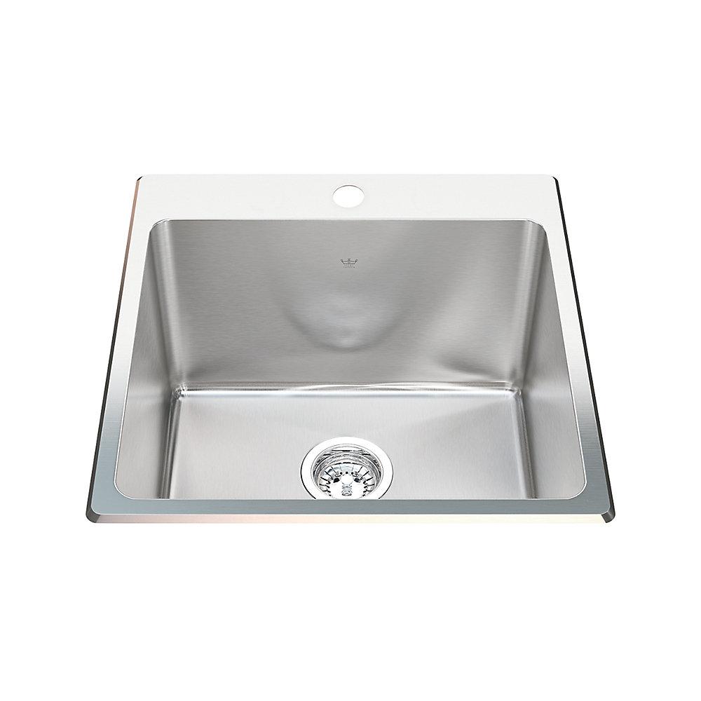 Super 20 Ga Handfab Dm Single Sink 1 Hole Drilling Interior Design Ideas Inamawefileorg