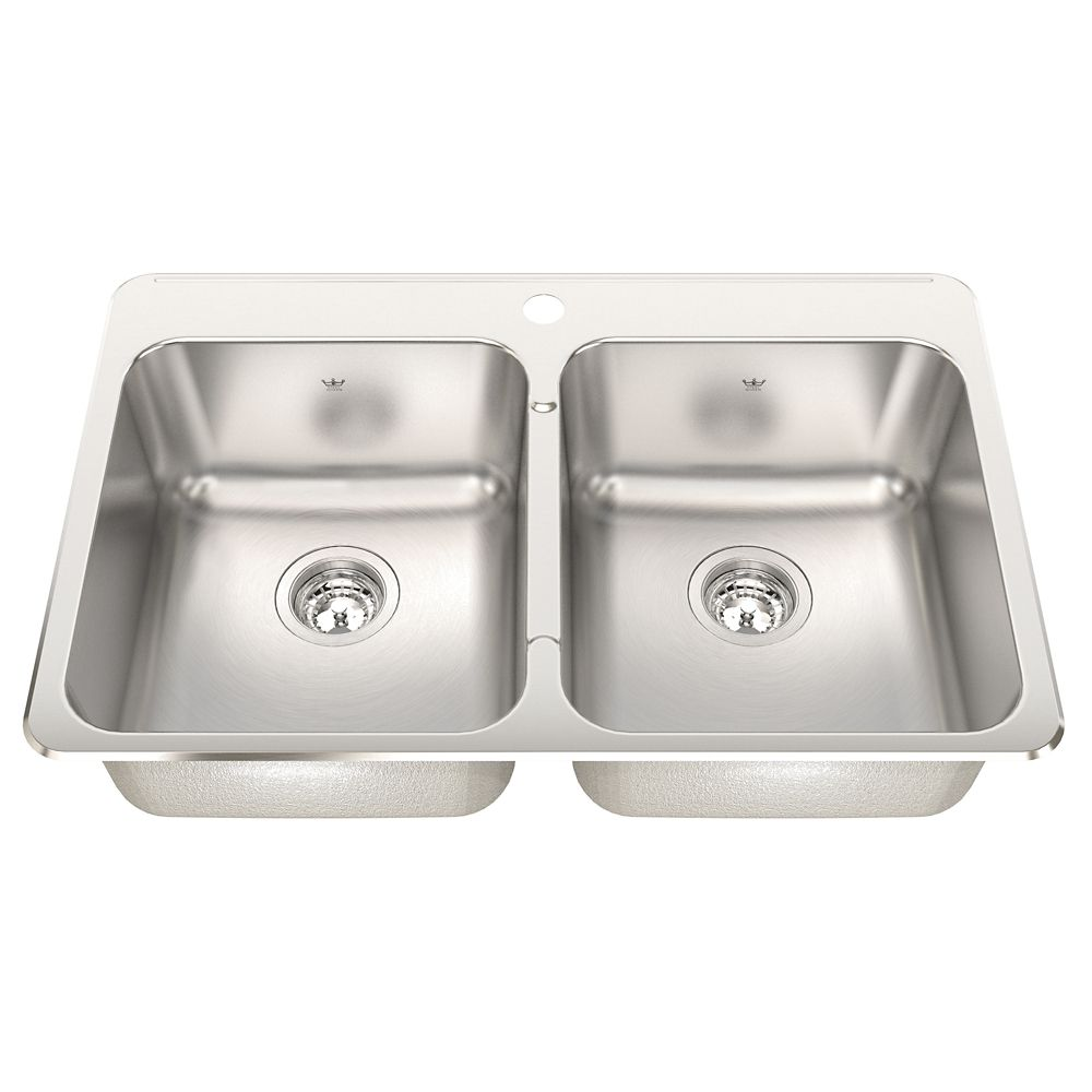Double 20 Ga sink Silk finish 1 hole drilling