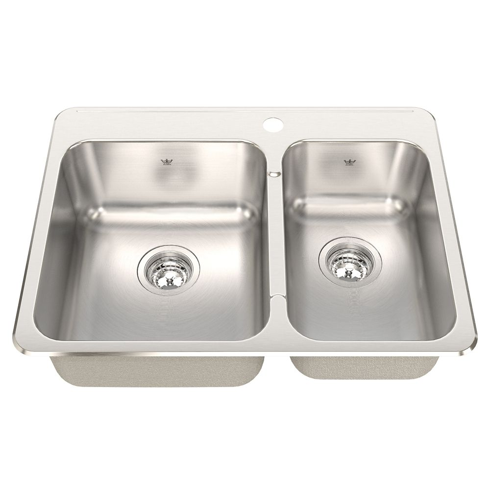 Kindred Combination 20 Ga sink Silk finish 1 hole drilling