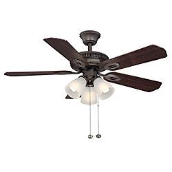 Hampton Bay Glendale 42 inch Oil Rubbed Bronze Ceiling Fan