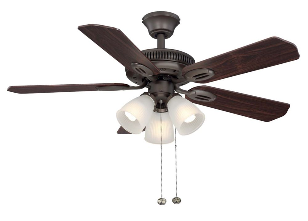 Hampton Bay Glendale 42 inch Oil Rubbed Bronze Ceiling Fan