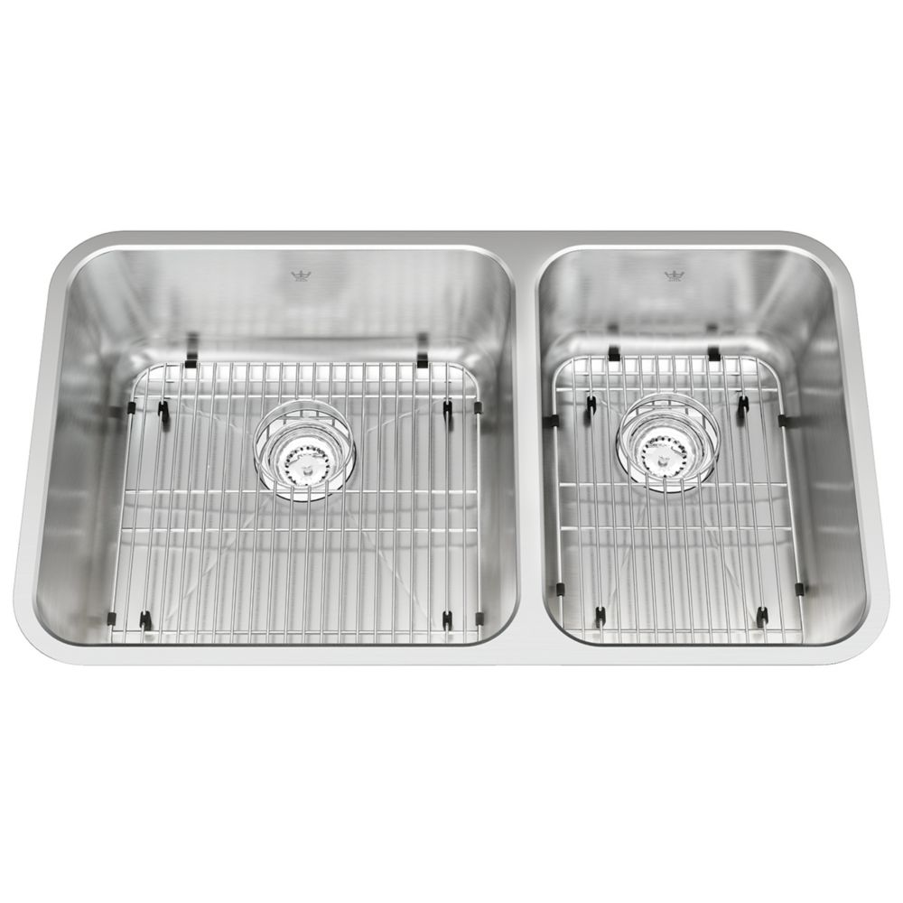 "Kindred Combination RH UM 18 Ga sink - 18-3/4"" X 32-7/8"" X 9"""