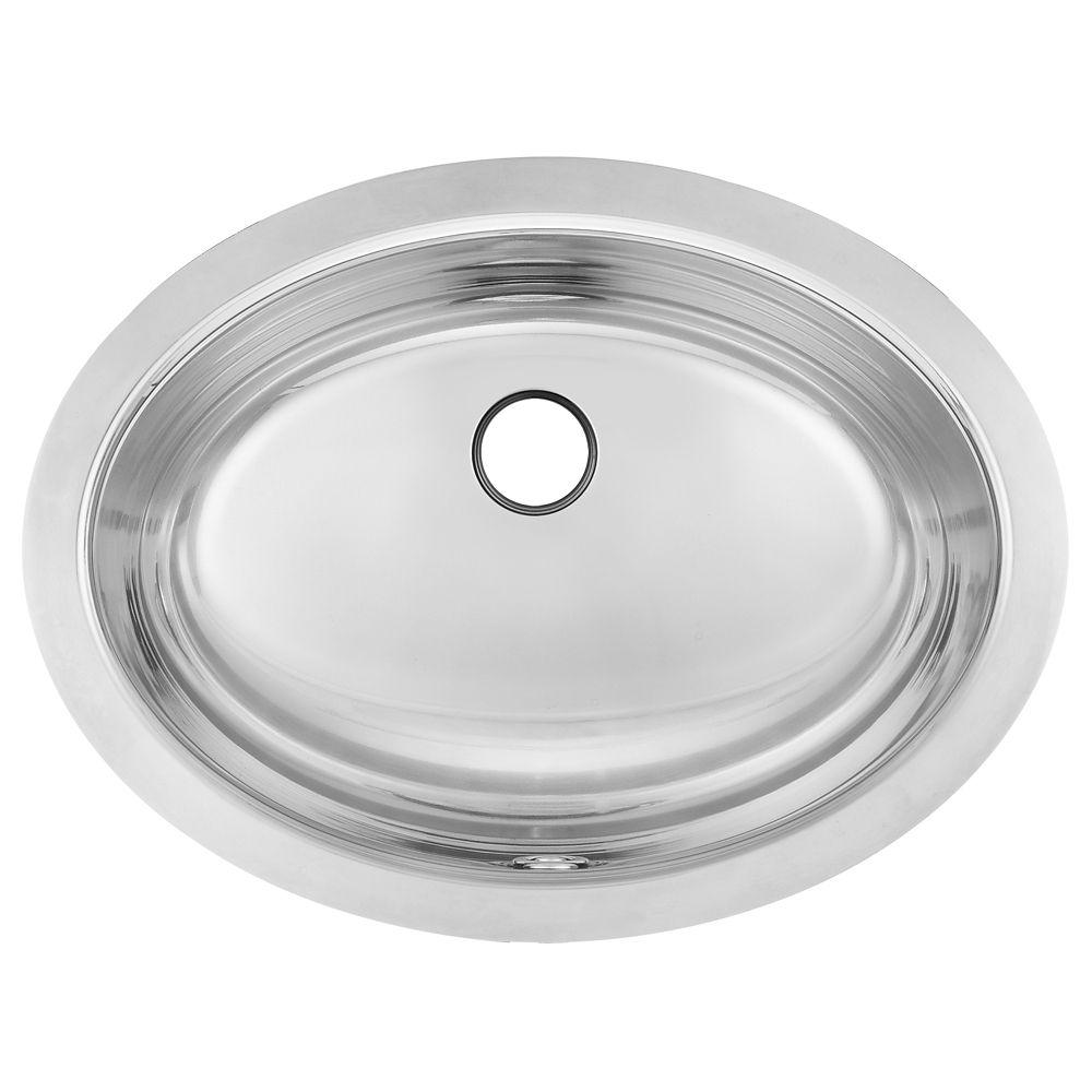 18 Gauge Undermount Hand Wash Bathroom Sink Basin