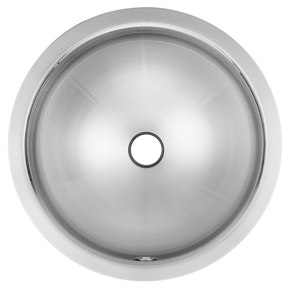 "18 Ga UM handwash basin - 16-1/4"" round"