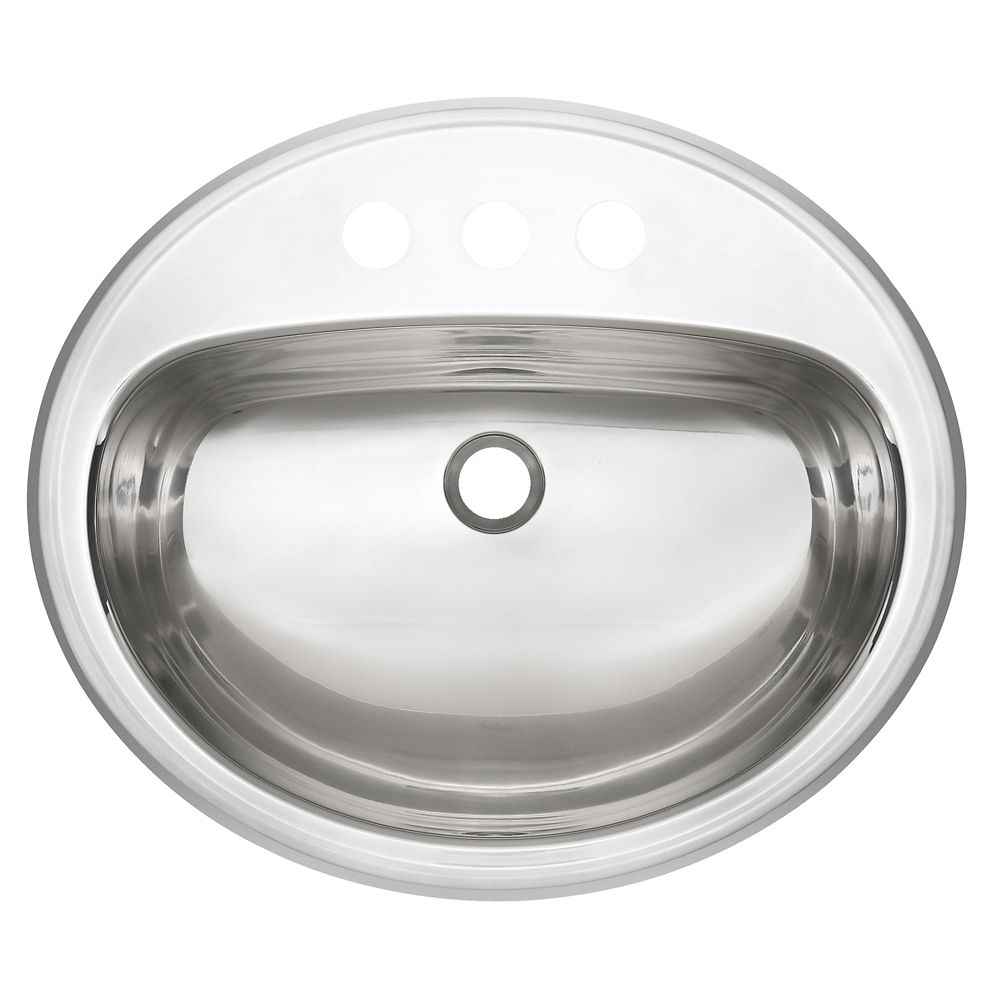 18 Gauge Oval Drop-In Bathroom Sink Basin