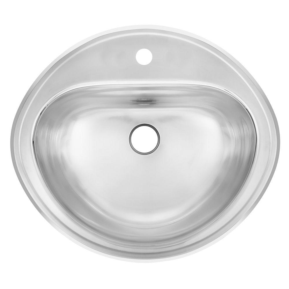 Calibre 18 bassin encastré de la vanité