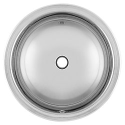 """Kindred 18 Ga drop-in basin - 18-3/4"""" round"""