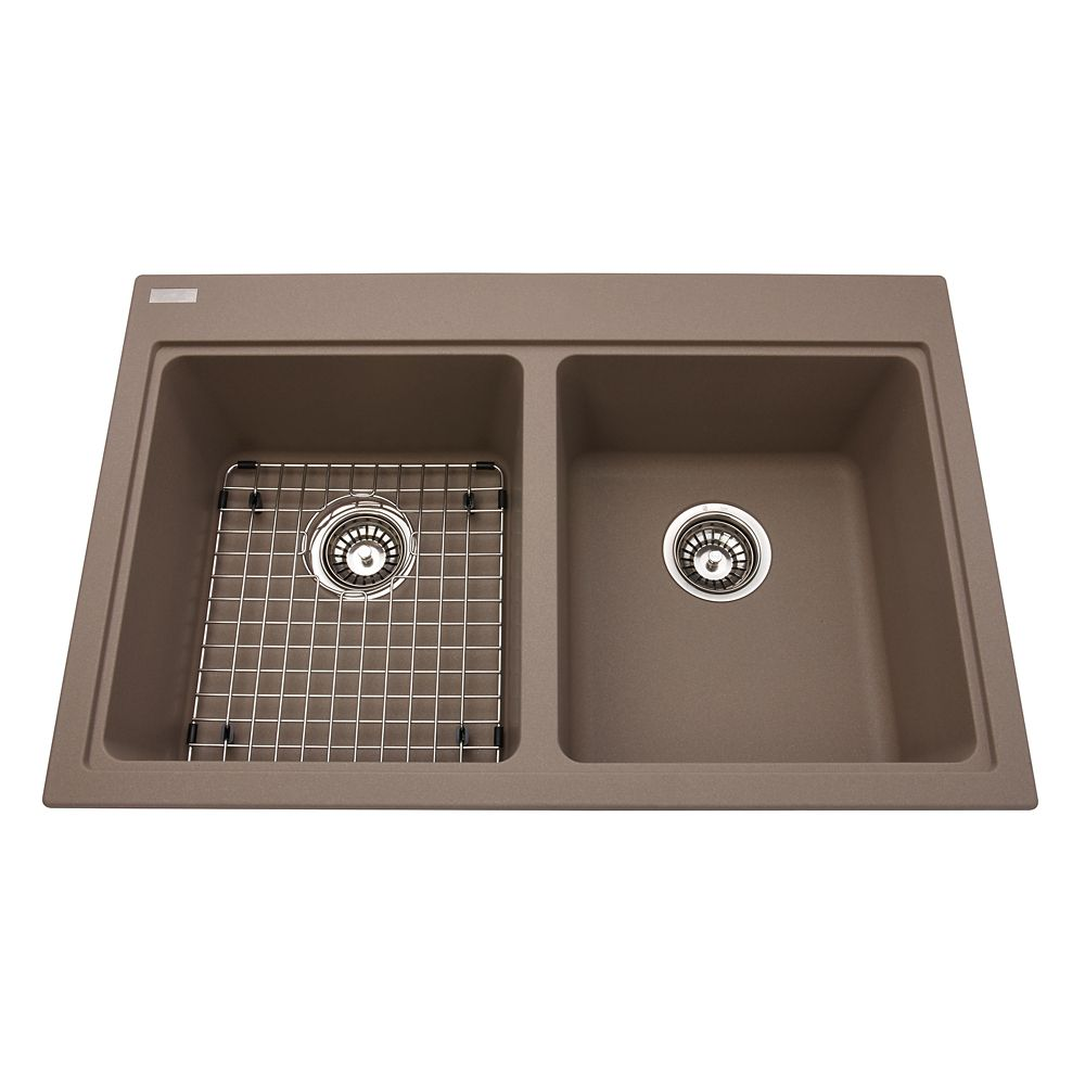 Kindred Double sink Oyster