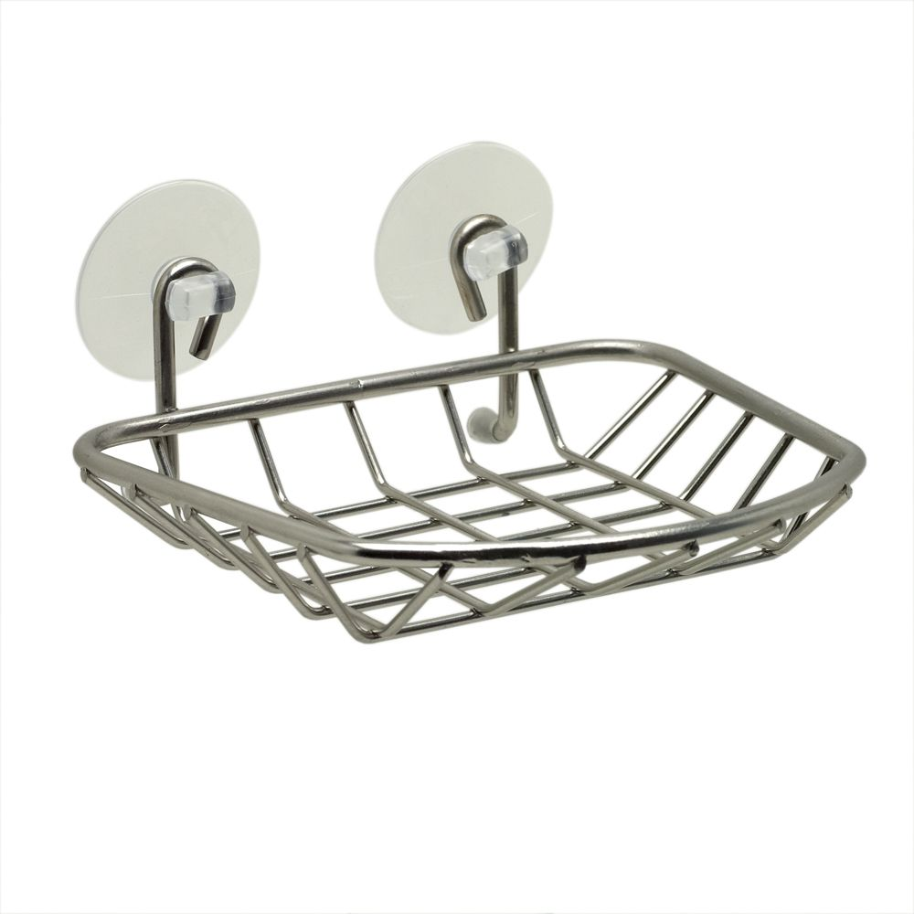 Zenna Home Suction Soap Dish in Brushed Nickel