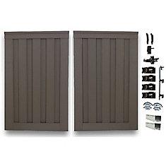 Double barrière de clôture vie privée composite couleur gris Winchester avec le matériel  6' x 8'