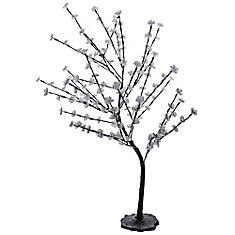 4 feet White Decorative Blossom Tree 120 volt