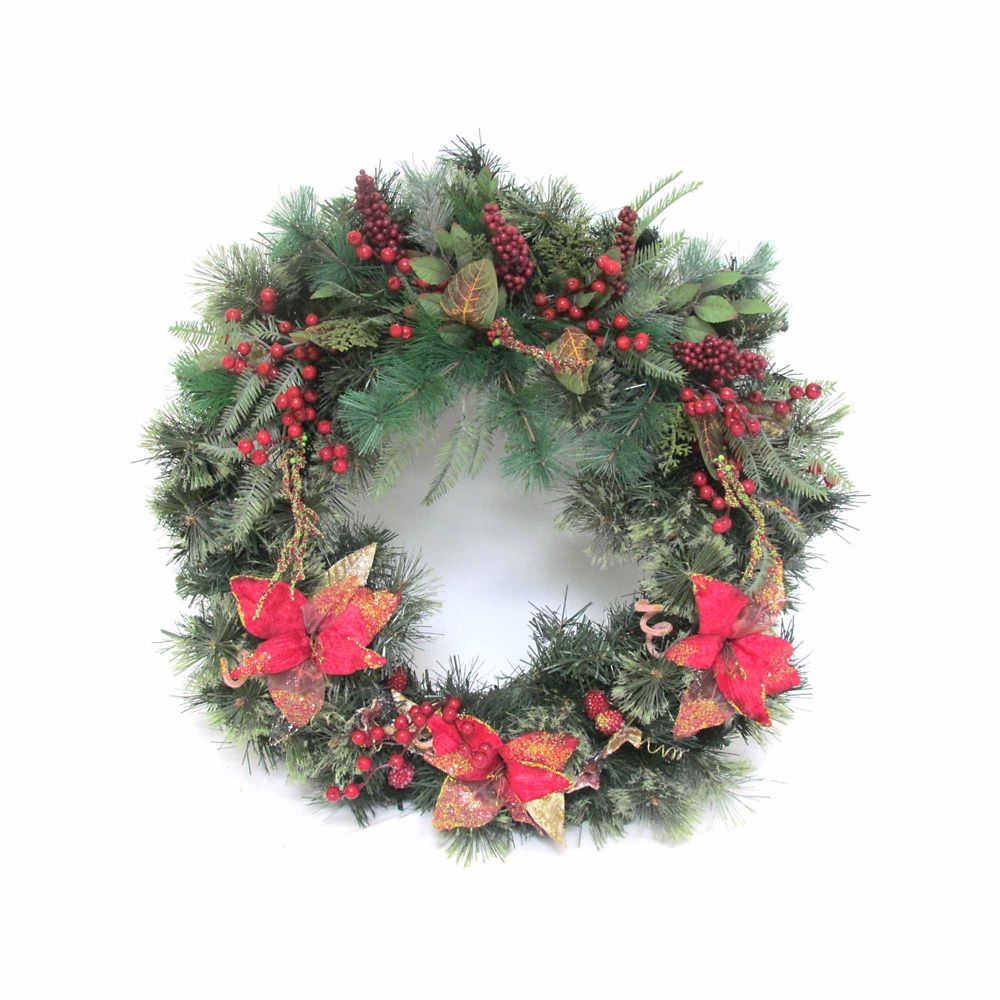 30 Inch Decorated Wreath In Deco Box