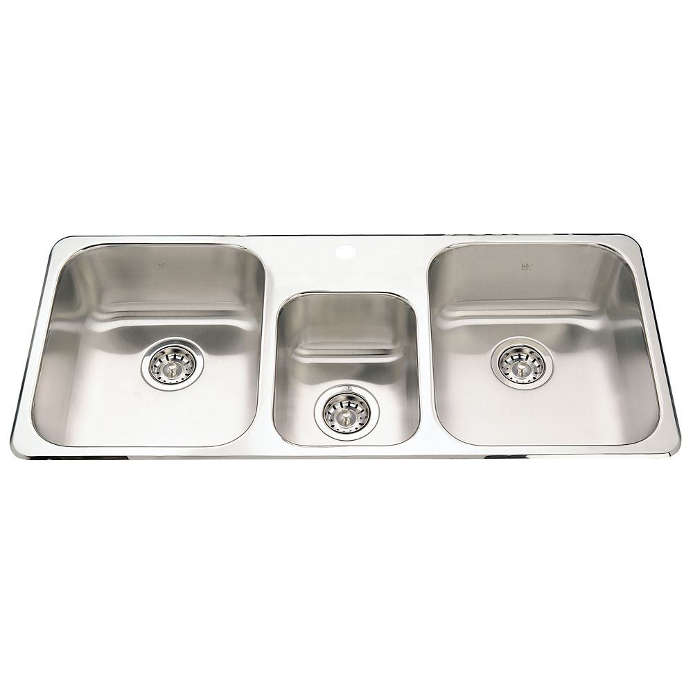 Kindred Triple Bowl Sink 1 hole drilling